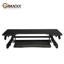 Hot Sales New Arrival Office Furniture Black Wooden Steel Gas spring Foldable Standing desk