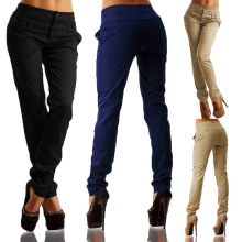 Wholesale High Waist Work Clothes Blank Work Trousers Casual Women Long Work Pants