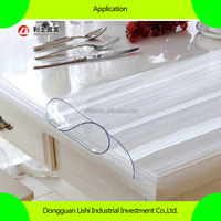 transparent super clear soft pvc sheet for table cloth