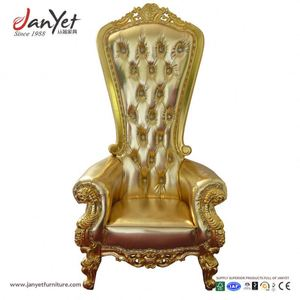 Factory Direct Bride And Groom French Style Throne Chair Party Rental