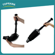 Toprank Customize Colored PVC Toilet Drain Buster Air Drain Plunger Strong Suction Vacuum Toilet Plunger For Bathroom Use