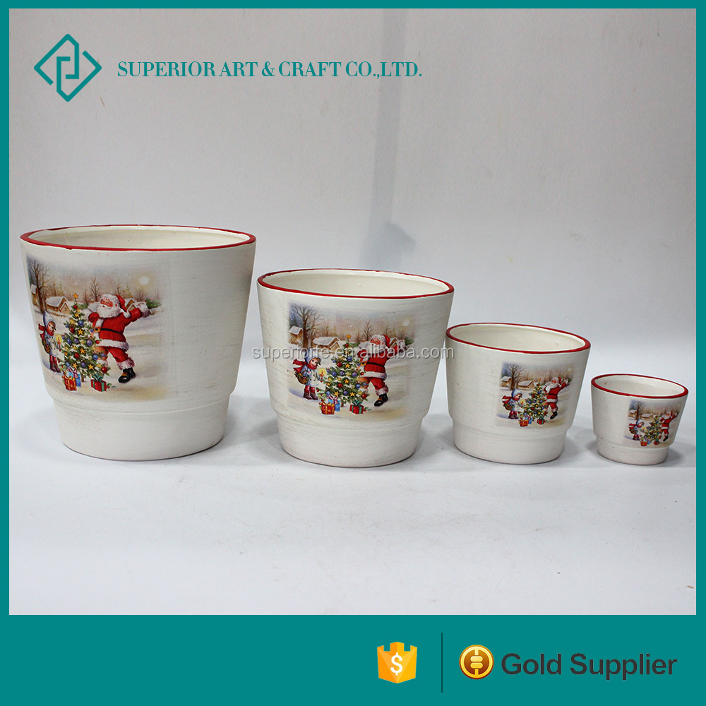home interiors decor wholesale china glazed ceramic pots planter small white flower pots