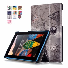 Hot Selling Colorful Printing Leather Tablet Cover Case for Lenovo Tab3 7 Essential TB3-710F
