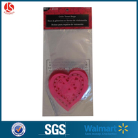 Plastic 6*9cm Heart Shape Valentine's Day Candy Bag opp bags