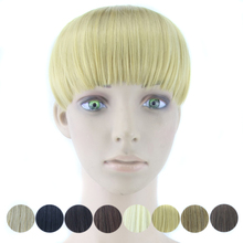 Synthetic Hair Fringe Black Blonde Blunt Fake Hair Bangs Hair Pieces Hairpiece Accessories
