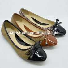 2012 new design comfortable flat lady shoes elegant fashion women style