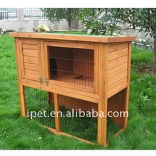 Large 4FT Outdoor 2 Tire Wooden Rabbit Cage with Wood Floor