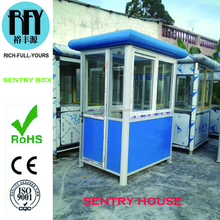 Color steel sentry box / guard house for garden residence, police house or parking lot in Foshan China