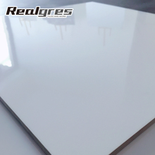 Hot sale cheap price white color glazed polished porcelain floor tiles