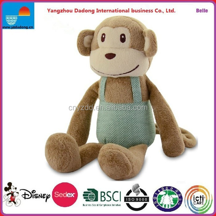 Plush Sitting Monkey With Apron,Plush Sitting Monkey Toy,Plush Stuffed Monkey Toy