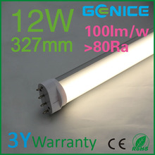 12w RA>80 led pl 2g11 tube replace 24w 4pin pll lamp 5 years warranty