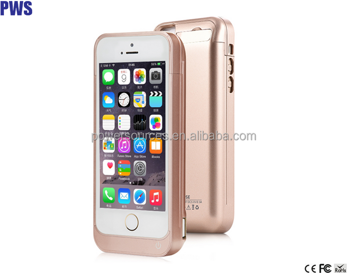 Lithium battery 4200mAh external battery power bank charger pack backup battery case for iphone 5 5s 5c