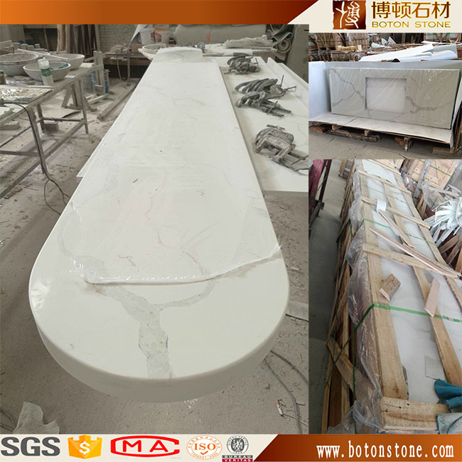 Chinese Artificial Quartz Stone Popular Island Top