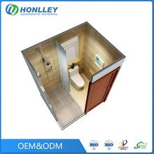 Honlley waterproof prefabricated bathroom pods with wc, glass bathroom pods