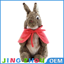 Plush Cute Toy Lifelike Plush Rabbit Doll With Cappa And Embroidered Name