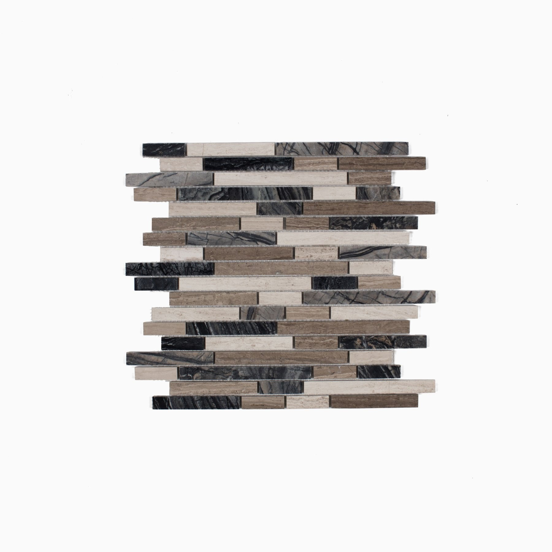 thin stripes Mosaic Wall and Floor Tile, Mixed Marble