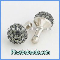 Wholesale Metal Crystal Ball Dustproof Plug Mobile Cell Phone Earphone Cap Anti Dust Stopper For Mobile phone MDP-C1002