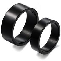 custom chrome black ring stainless steel ring simple