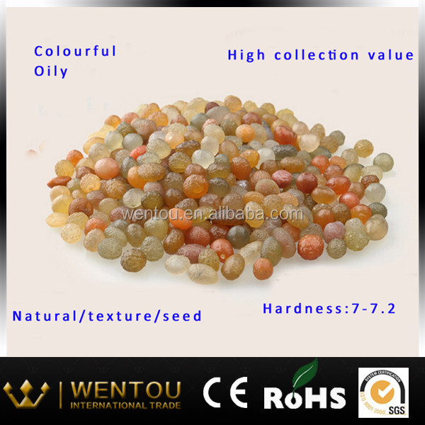 Precious rough seed bead jewelry xinjiang agate natural gem stone