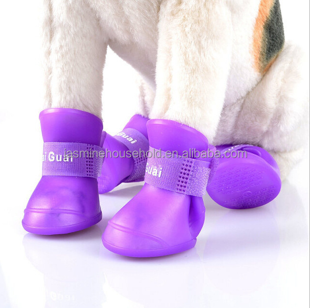 Hot Sale Pet Shoes Outdoor Anti-Skid Waterproof Silicone Dog Shoes