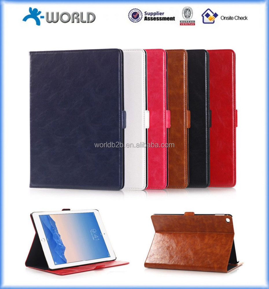 Crazy Horse PU Leather Case - Executive Style with Auto Sleep/Wake Function Case for ipad air 2