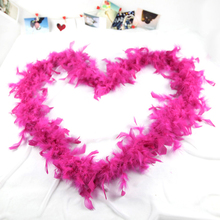 Pink colour Feather boa wholesale , cheap turkey feather boa for carnival decoration
