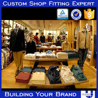 wooden clothing shop furniture flat pack for easy shipping