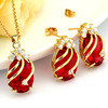 ruby crystal jewelry set, guangzhou jewelry wholesale, good quality jewelry in china