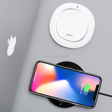 USAMS Universal Fast Wireless Charging Qi 10W Ultra Mini Recharger Portable Battery Charger for Samsung iPhone X