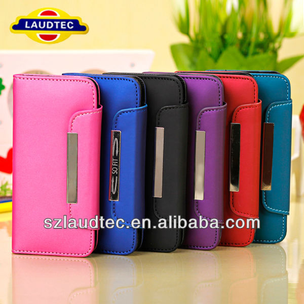 Matte design with strings Wallet Leather Flip Case for iPhone5C