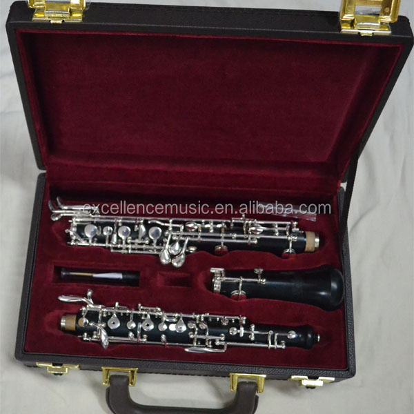 C key ebony oboe Professional silver-plated wooden oboe for sale