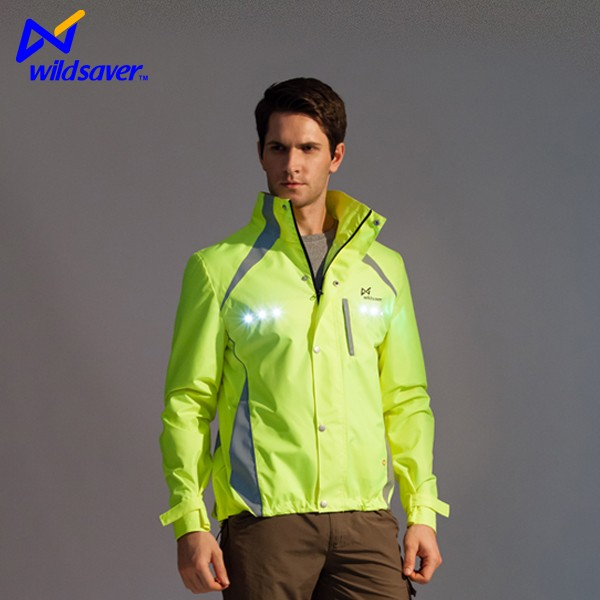 Cycling reflective outdoor sports LED jacket for men