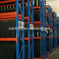 China Nanjing Jracking Truck Tyre Steel Beam Upright Tree Shaped Pallet Racks System