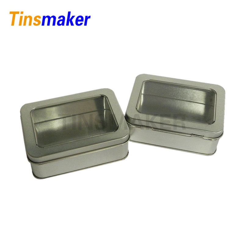 High Quality Small Metal Tin Container Boxes With Window