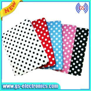 For new ipad/ipad 3 PU case polka dot Christmas gift for girl