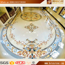 BOTON round mosaic waterjet marble medallion tiles design floor pattern