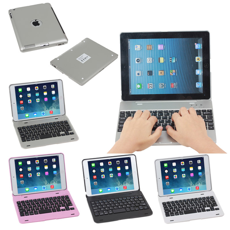 Bluetooth keyboard case for iPad 4 with logo hole
