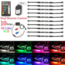 dynamic light motorcycle led Multi-Color Music Strip Decoration led motorcycles wireless break light kit