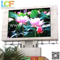 PH16mm outdoor one pole video play LED display