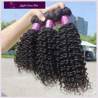 wholesale virgin indian jerry curl weave 18 inch 3pcs one pack 1b color