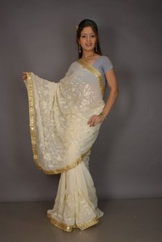 nylon sarees, dress materials