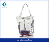 trendy blank canvas tote bag for girls