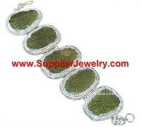 Silver Moldavite Bracelets Sterling Jewellery Wholesale Only Jewelry Faux Bracelets & Bangles