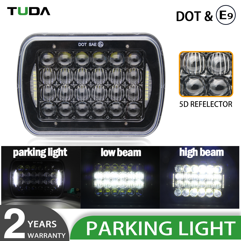 High Power Parking Light 50000Lumen 48W High Low Beam Jeep Off Road 5X7 7 Inch Car Headlight Led