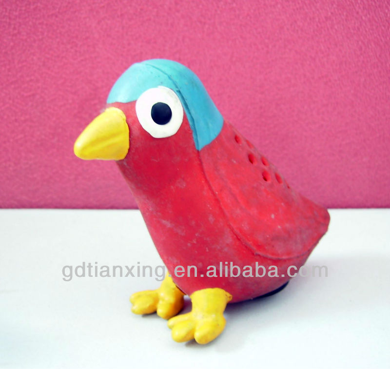 natural rubber bird toy