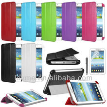 book style slim leather case cover for samsung galaxy tab3 P3210 P3200 7.0 T210 T211