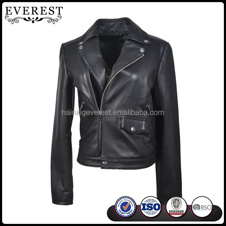 High Quality Biker Leather Jacket For Women Japanese Style