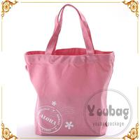 Top Quality New Design Promotional cheap organic cotton canvas tote bag with twist handle