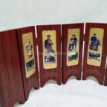 Mini movable mini 6 panels folding screen ornaments/WOODEN FOLDING SCREEN
