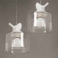Modern Nordic design art creative bird glass pendant lamp for restaurant bar balcony